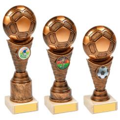 TW20-023-1206CG / Antique Gold Football Trophy