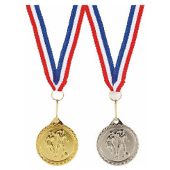 TW20-032-236BG / 32mm Football Medal (M) with Ribbon
