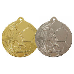 TW20-032-MD165GG / 45mm Gold Male Football Medal