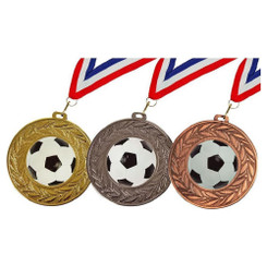 TW20-033-678CPG / 90mm Gold Football Medal