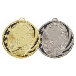 TW20-034-MD019GG / 50mm Gold Football Boot & Ball Medal