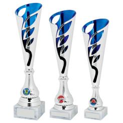 TW20-039-1229CG / Silver/Blue Sculpture Award