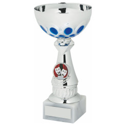 TW20-042-1236DG / Silver/Blue Bowl Award
