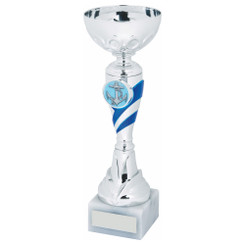 TW20-045-1240EG / Silver/Blue Trophy Cup