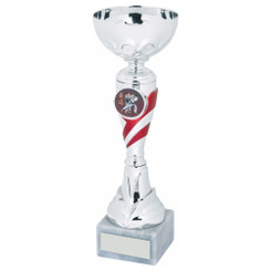 TW20-045-1241EG / Silver/Red Trophy Cup