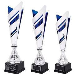 TW20-055-1061CG / Silver/Blue Sculpture Trophy