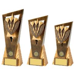 TW20-070-1008CPG / Antique Gold Darts Edge Award