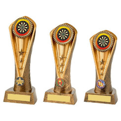 TW20-070-1069ZCPG / Antique Gold Darts Cobra Trophy
