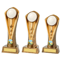 TW20-085-1085CPG / Antique Gold Hockey Cobra Trophy