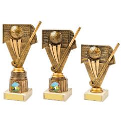 TW20-085-1087CG / Antique Gold Hockey Holder Award