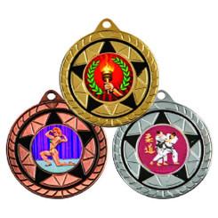 TW20-119-MD168GG / 50mm Black Star Medal