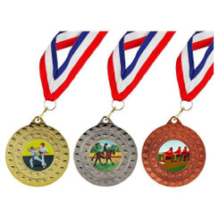 TW20-125-MDR049GG / 50mm Medal with 22mm Ribbon
