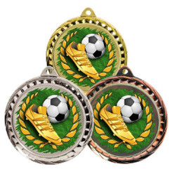 TW20-126-MD074GG / 60mm Colour Print Sports Medal - Football