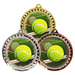TW20-127-MD079GG / 60mm Colour Print Sports Medal - Tennis
