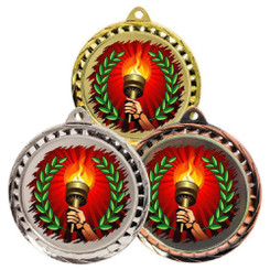 TW20-127-MD080GG / 60mm Colour Print Sports Medal - Torch
