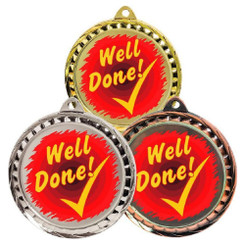 TW20-127-MD082GG / 60mm Colour Print Sports Medal - Well Done