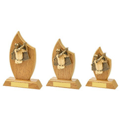 TW20-144-1121CPG / Wood Stand with Male Golf Resin Trim