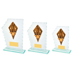 TW20-147-1330CPG / Jade Glass Stand with Golf Clubs Resin Trim