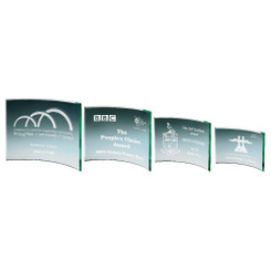 TW20-169-T.0917G / Jade Curve Glass Award