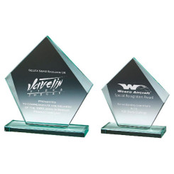 TW20-171-T.3865G / Jade Glass Pentagon Award