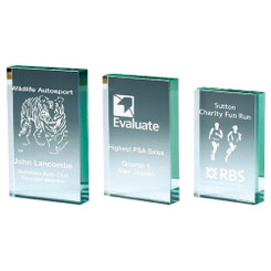 TW20-176-T.8986G / Premium Jade Glass Block Award