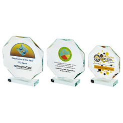 TW20-180-T.0905CG / Crystal Octagon Award for Colour Printing