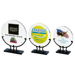TW20-182-T.0891CG / Crystal Circle Award in Stand for Colour Printing