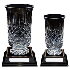 TW20-210-KL806G / Deep Crystal Flared Bowl on Wood Base