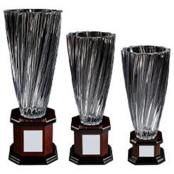 TW20-211-KL830G / Bohemia Crystalite Twist Vase Award on Wood Stand