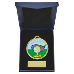 TW20-162-862AG / 60mm Longest Drive Golf Medal in Case