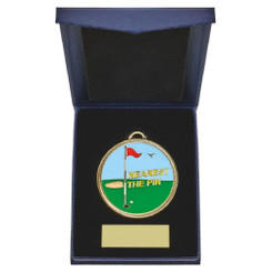 TW20-162-862AG / 60mm Nearest the Pin Golf Medal in Case