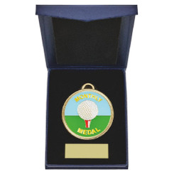 TW20-162-862AG / 60mm Monthly Award Golf Medal in Case