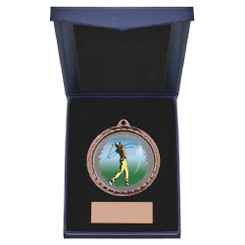 TW20-163-867AG / 60mm Bronze Male Golf Medal in Case