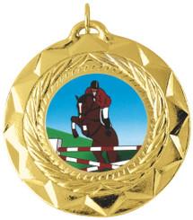 50mm Star Medal - Gold