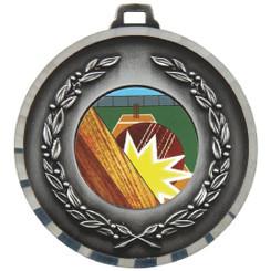 50mm Diamond Edged Medal - Silver