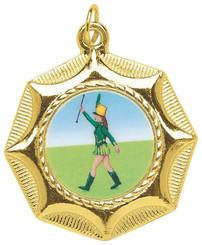 45mm Star Design Sports Medal - Gold