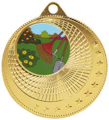50mm Circles Design Medal - Gold
