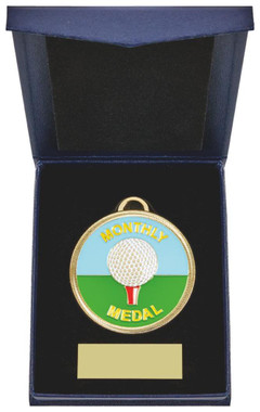 "60mm Golf Medal in Navy Blue Case - 60cm (23 3/4"") - TW19-169-864A"