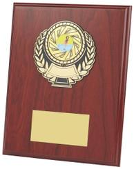 "Wood Effect Plaque Award - TW18-115-302FP - 10cm (4"")"