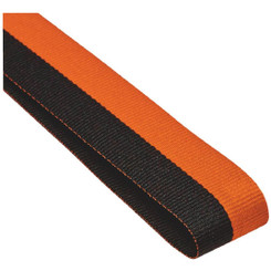 22mm Width Medal Ribbon - Black/Orange
