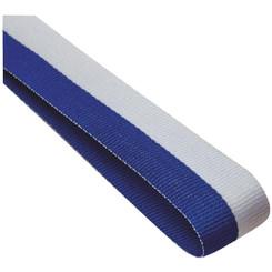 22mm Width Medal Ribbon - Blue/White