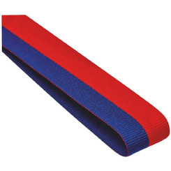 22mm Width Medal Ribbon - Blue/Red