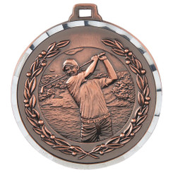 Diamond Edged Men's Golf Medal - Bronze