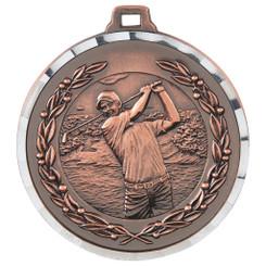 Diamond Edged Men's Golf Medal - Bronze