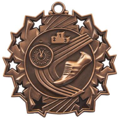 60mm Stars Athletics Medal - Bronze