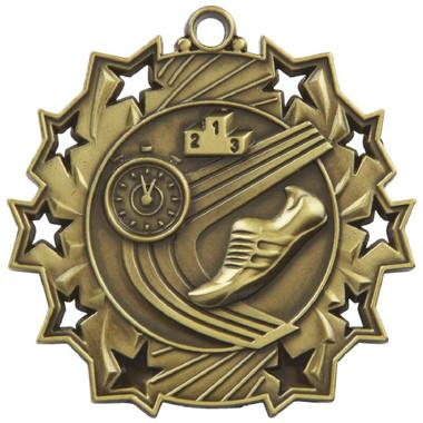 60mm Stars Athletics Medal - Gold