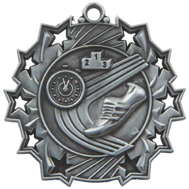 60mm Stars Athletics Medal - Silver