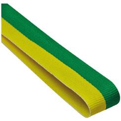 22mm Width Medal Ribbon - Green/Yellow