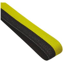 22mm Width Medal Ribbon - Black/Yellow
