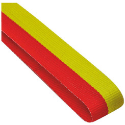 22mm Width Medal Ribbon - Red/Yellow